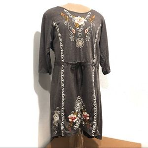 Johnny Was Embroidery Dress High Low Size Large